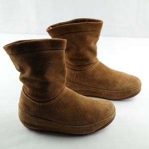 Fitflop Crush Boots Brown Sugar Suede Sz 5